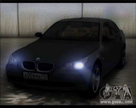 BMW 530xd stock for GTA San Andreas