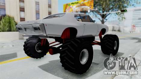 Pontiac GTO 1968 Monster Truck for GTA San Andreas right view