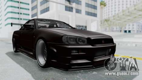 Nissan Skyline R34 GTR 2002 V-Spec II S-Tune for GTA San Andreas right view