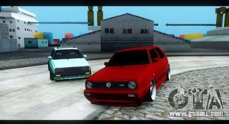 Volkswagen Jetta Mk2 for GTA San Andreas back left view
