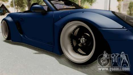 Porsche Boxster Liberty Walk for GTA San Andreas back view