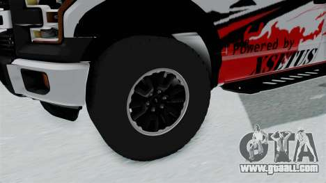 Ford F-150 Raptor 2015 for GTA San Andreas back view