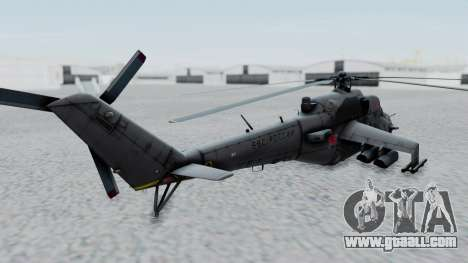 Mi-24V Russian Air Force 39 for GTA San Andreas back left view