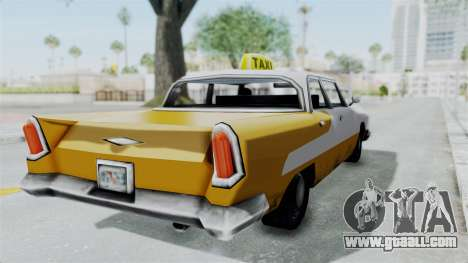 GTA VC Oceanic Taxi for GTA San Andreas back left view