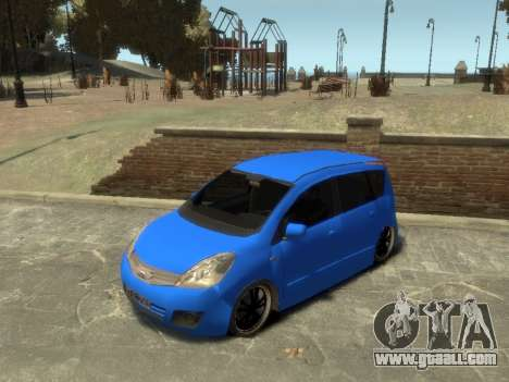 Nissan Note for GTA 4 back view
