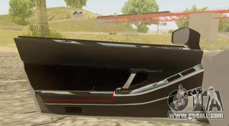 Infernus for GTA San Andreas back view