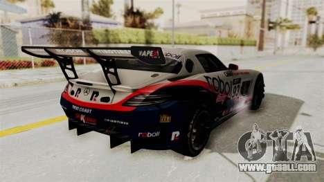 Mercedes-Benz SLS AMG GT3 PJ1 for GTA San Andreas wheels