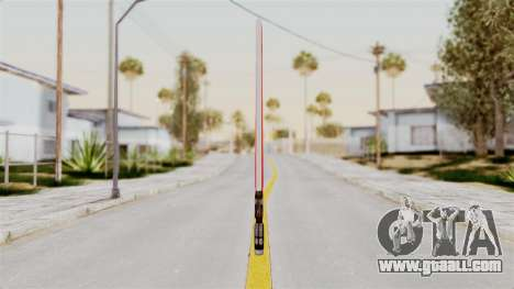 Star Wars LightSaber Red for GTA San Andreas second screenshot