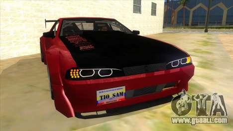 Elegy Tio Sam Style for GTA San Andreas back view
