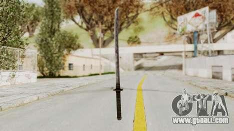Skyrim Iron Wakizashi for GTA San Andreas second screenshot