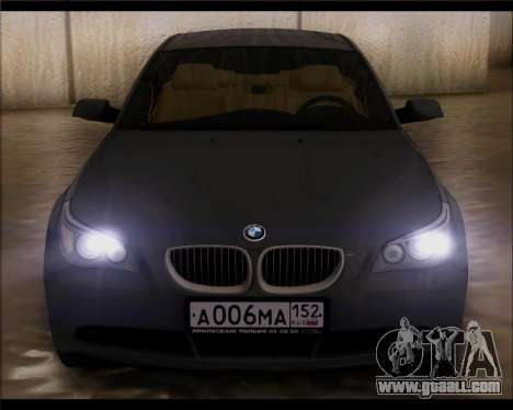 BMW 530xd stock for GTA San Andreas right view