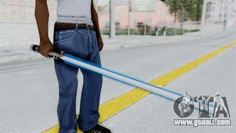 Star Wars LightSaber Blue for GTA San Andreas third screenshot