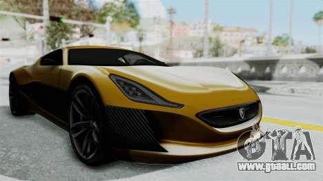 Rimac Concept One for GTA San Andreas right view
