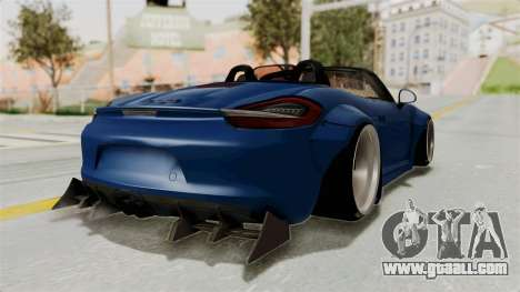 Porsche Boxster Liberty Walk for GTA San Andreas back left view