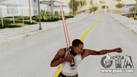 Star Wars LightSaber Red for GTA San Andreas third screenshot