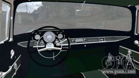 GTA 5 Chevrolet Bel Air Sport Coupe 1957 v1.5 rear right side view