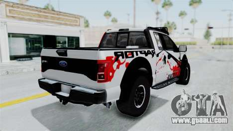Ford F-150 Raptor 2015 for GTA San Andreas left view