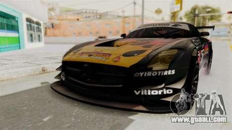 Mercedes-Benz SLS AMG GT3 PJ1 for GTA San Andreas side view