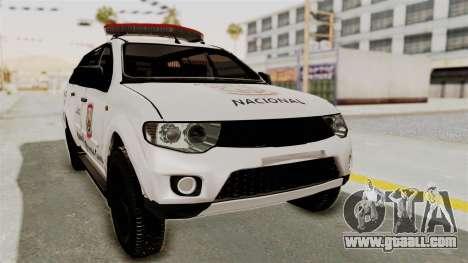 Mitsubishi Pajero Policia Nacional Paraguaya for GTA San Andreas