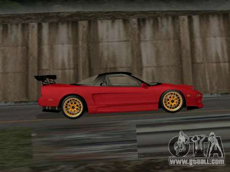Honda NSX (NA1) Time Attack for GTA San Andreas left view