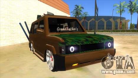 Toyota Kijang Grand Extra Full for GTA San Andreas back view