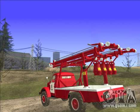 GAS 63 APG-14 Fire truck for GTA San Andreas back left view