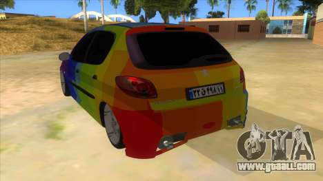 Iranian Peugeot 206 Sport for GTA San Andreas back left view