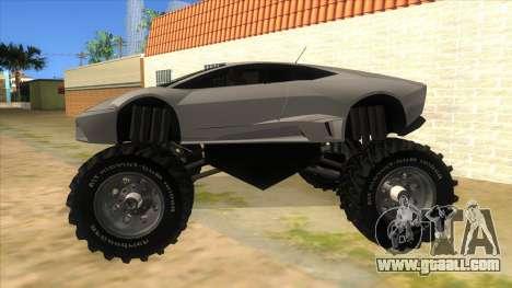 Lamborghini Reventon Monster Truck for GTA San Andreas left view