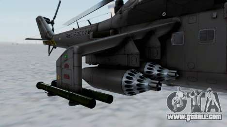Mi-24V Russian Air Force 39 for GTA San Andreas left view