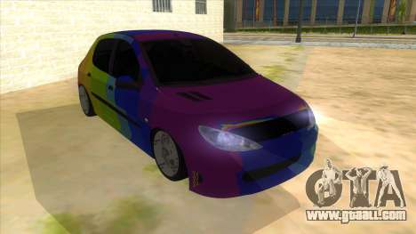Iranian Peugeot 206 Sport for GTA San Andreas back view