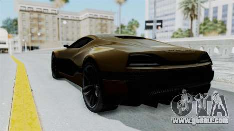 Rimac Concept One for GTA San Andreas left view