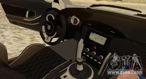Infernus for GTA San Andreas inner view