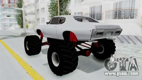 Pontiac GTO 1968 Monster Truck for GTA San Andreas left view