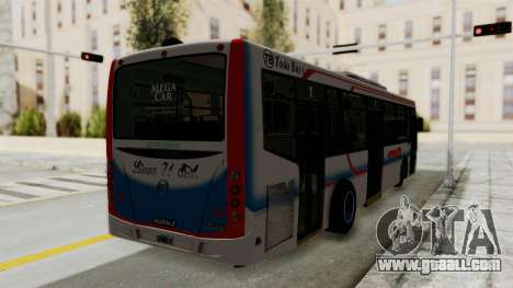 Todo Bus Pompeya II Agrale MT15 Linea 71 for GTA San Andreas back left view