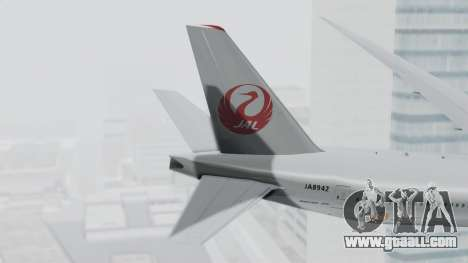 Boeing 777-9X Japan Airlines for GTA San Andreas back left view