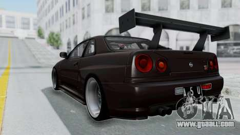 Nissan Skyline R34 GTR 2002 V-Spec II S-Tune for GTA San Andreas left view