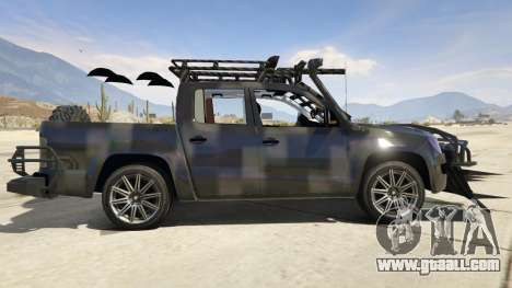 GTA 5 Volkswagen Amarok Apocalypse left side view