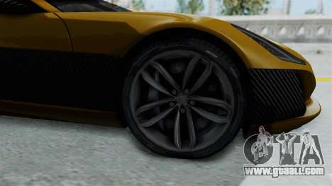 Rimac Concept One for GTA San Andreas back view