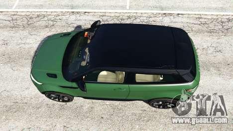 GTA 5 Range Rover Evoque v2.0 back view