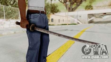 Skyrim Iron Wakizashi for GTA San Andreas third screenshot