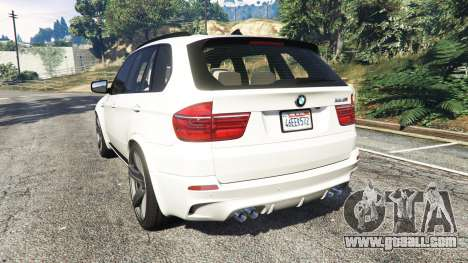 GTA 5 BMW X5 M rear left side view
