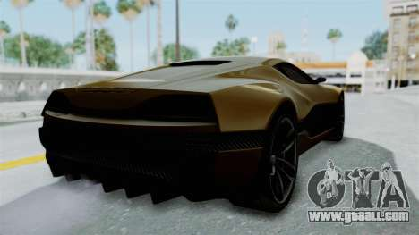 Rimac Concept One for GTA San Andreas back left view