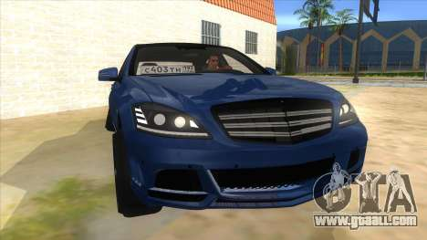 Mercedes-Benz S65 Rus Stance for GTA San Andreas back view