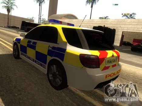 SAAB 9-2 Aero Turbo Generic UK Police for GTA San Andreas back left view