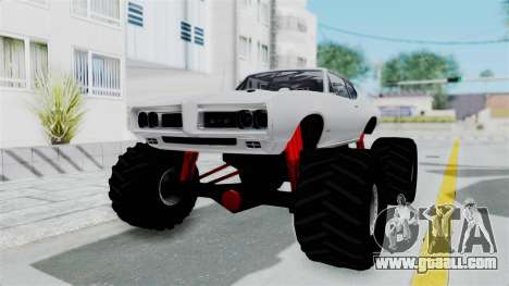 Pontiac GTO 1968 Monster Truck for GTA San Andreas back left view