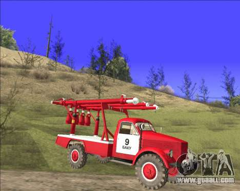 GAS 63 APG-14 Fire truck for GTA San Andreas left view