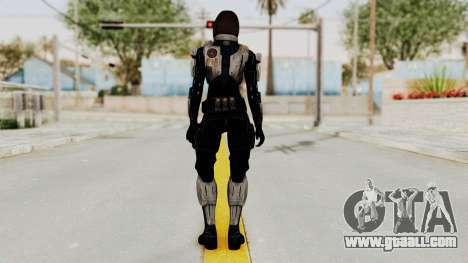 Mass Effect 3 Miranda Short Hair Ajax Armor for GTA San Andreas third screenshot