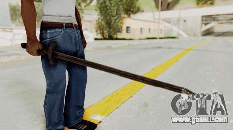 Skyrim Iron Sword for GTA San Andreas