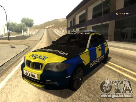 BMW 120i SE UK Police ANPR Interceptor for GTA San Andreas
