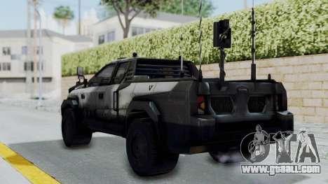 Advanced Warfare Tactical Pickup for GTA San Andreas left view